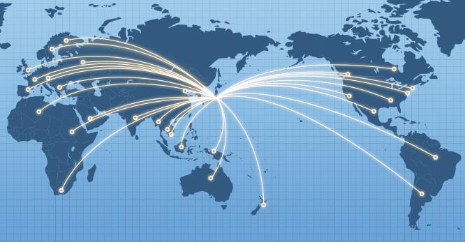 世界に広がるネットワーク